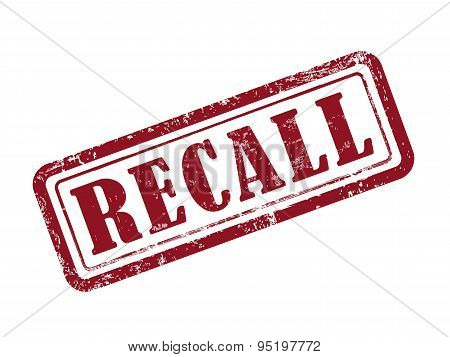 Stamp Recall In Red