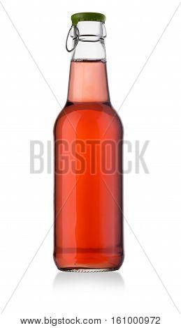 Sweet Soft Drink Bottle On White