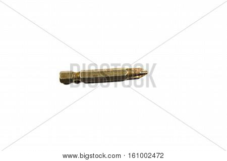 Screwdriver bit isolated on a white background