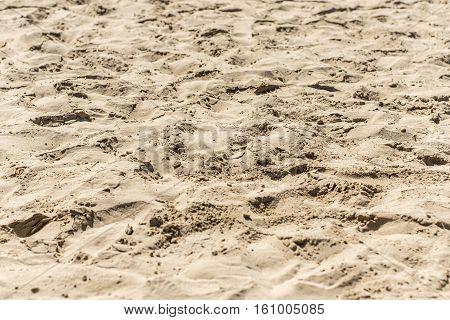 closeup of sand pattern of a beach in salalah Oman