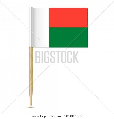 flag of Madagascar  toothpick on white background 10eps