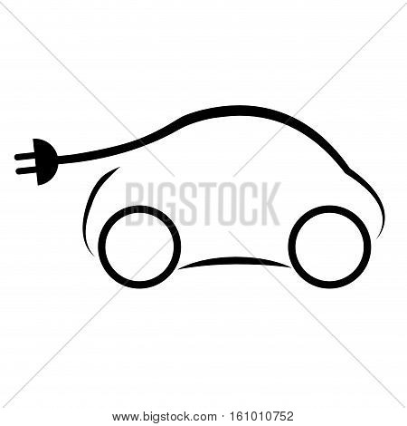 eco friendly electric car icon image vector illustration design