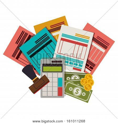 Tax form icon. Document finance and financial item theme. Isolated design. Vector illustration