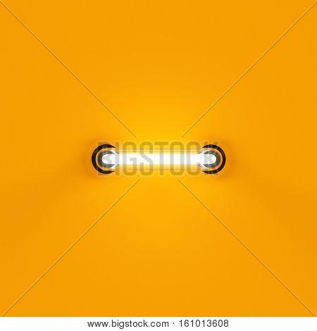 Neon Light Letter Digit Minus Subtraction Sing Mark