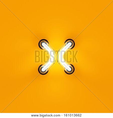 Neon Light Letter Digit Multiplication Sum Sing Mark