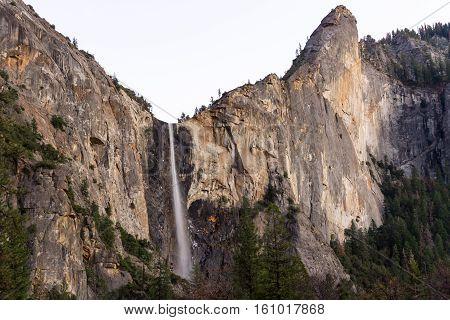 Bridal Veil Falls In Yosemite