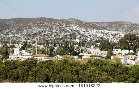 Bodrum Town In Aegean Coast Of Mugla Turkey