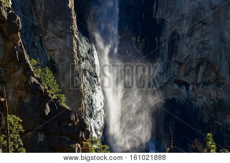 Bridal Veil Waterfall In Yosemite