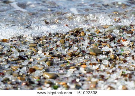 Glass Beach Background