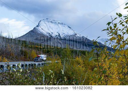 Mountain Landscape In Glacier Montana