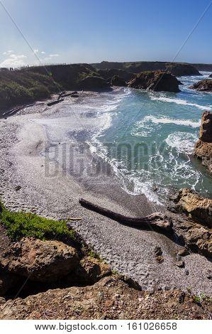 Glass Beach In California