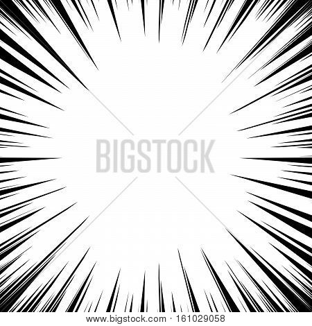Abstract Irregular Explosion, Blast Effect. Radial - Radiating Lines Circular Pattern