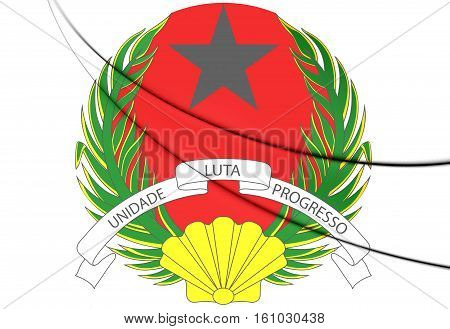 3D Guinea-bissau Coat Of Arms. 3D Illustration.