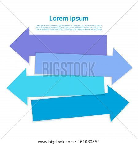 Colorful Sticker Set Infographic Business Collection Copy Space Vector Illustration