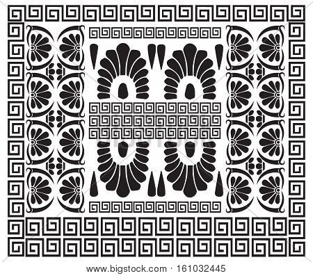 Greek pattern. Ancient Hellenic decor. Set of meander ornaments. Vector antique borders