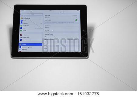 Setting Screen On Ipad