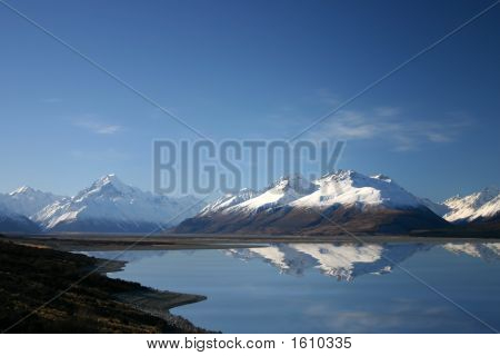New Zealand - Mount Cook - Pukaki River Reflection