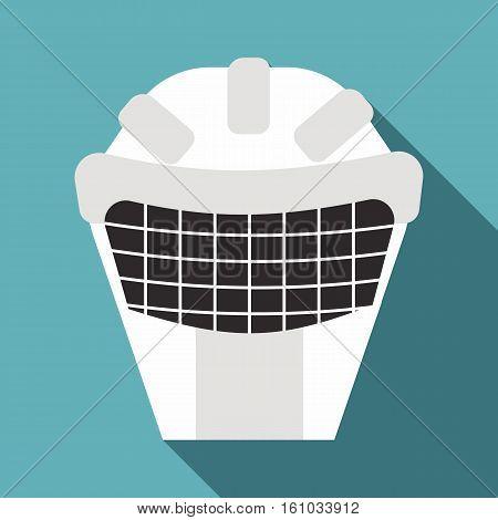Goalkeeper mask icon. Flat illustration of goalkeeper mask vector icon for web design