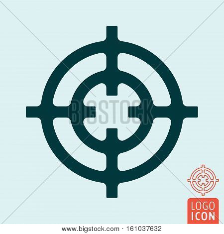 Crosshair icon. Target circle symbol. Vector illustration