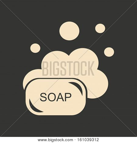 Flat in black and white mobile application solid soap
