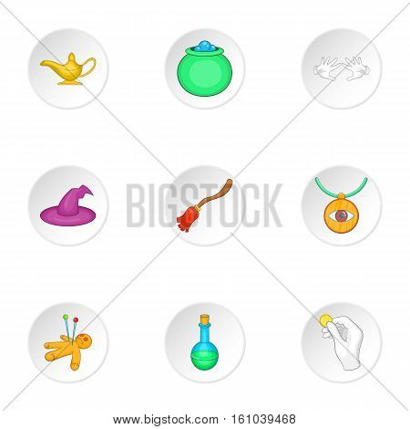 Tricks icons set. Cartoon illustration of 9 tricks vector icons for web