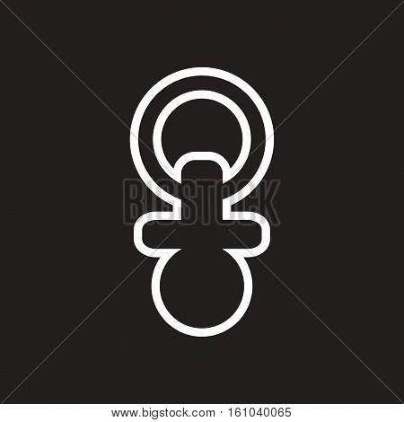 stylish black and white icon baby Nipple