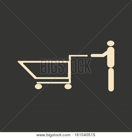 Flat in black and white mobile application buyer