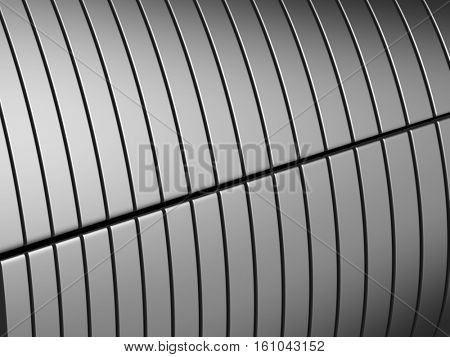 Silver metal stripe background 3d