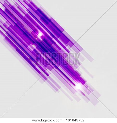 Violet straight lines abstract background, stock vector