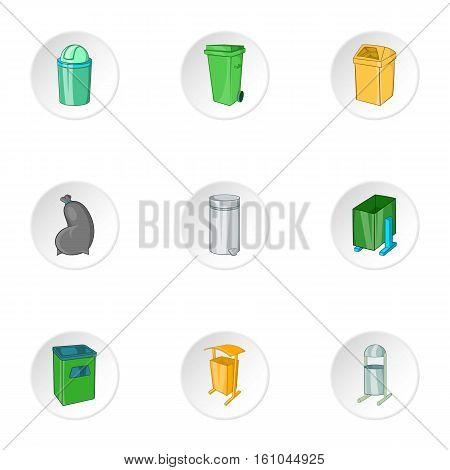 Scum icons set. Cartoon illustration of 9 scum vector icons for web