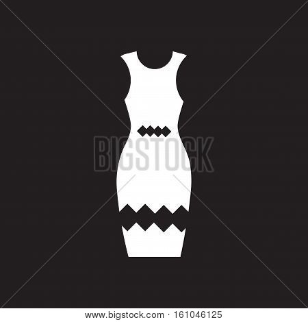 Flat icon in black and  white dress