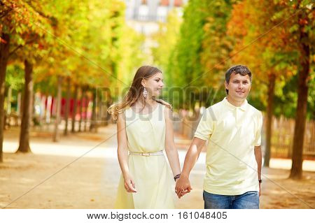 Beautiful Young Dating Couple In Paris