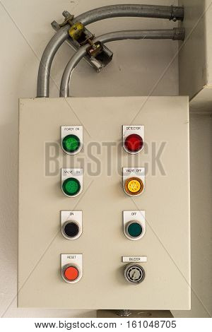 The small control Box in the Factory