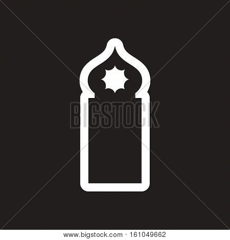 style black and white icon Arab mosque