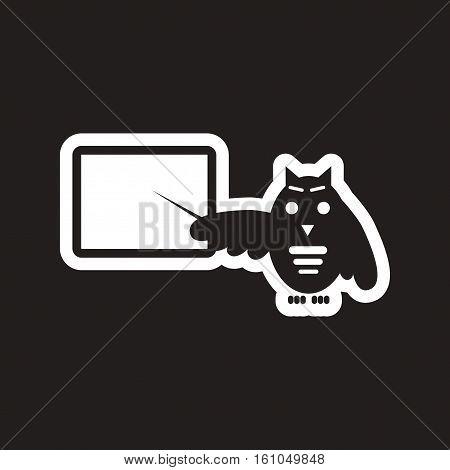 style black and white icon owl teacher