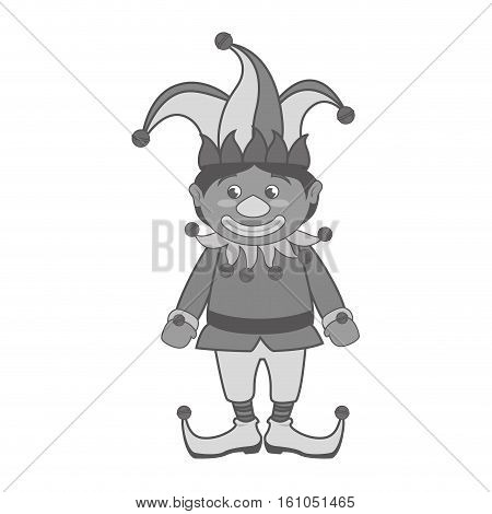 jester comic character isolated icon vector illustration design
