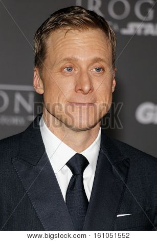 Alan Tudyk at the World premiere of 'Rogue One: A Star Wars Story' held at the Pantages Theatre in Hollywood, USA on December 10, 2016.