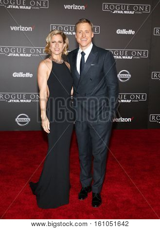 Alan Tudyk and Charissa Barton at the World premiere of 'Rogue One: A Star Wars Story' held at the Pantages Theatre in Hollywood, USA on December 10, 2016.
