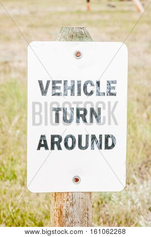 Sign to let driver's know there is a place to turn around by this sign