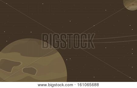 Outer space of scenery vector collection stock