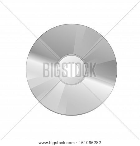 Compact disc on a white background. Vector illustration