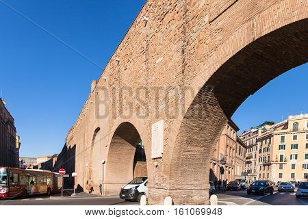 Wall Of Passetto Di Borgo, Rome