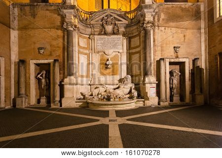 Oudoor Hall Of Capitoline Museums Inm Rome