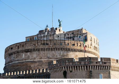 Tower Of Castle Of The Holy Angel In Rome