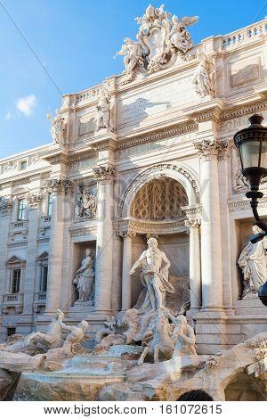 Trevi Fountain In Rome City