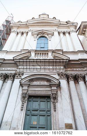 Facade Of Church S. Maria Dell' Orazione E Morte