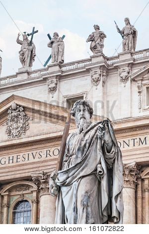 Sculpture Paul The Apostle And St Peter Basilica