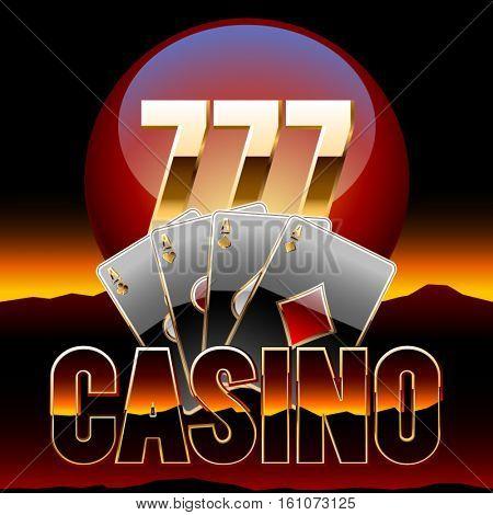 Vector chic emblem for Nevada casino