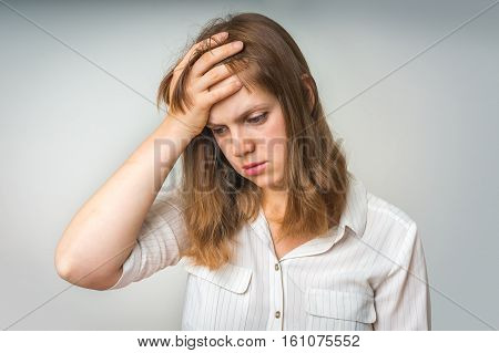 Young Disappointed Woman In Depression