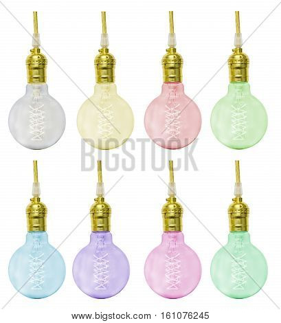 a Colorful Mini Incandescent lamp on white background